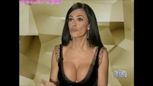 Busty Brunette Maria Grazia Cucinotta Big boobs italian tv