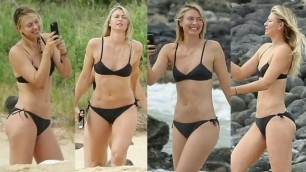 Horny Blonde Maria Sharapova Jerk Off Challenge