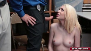 Theif babe caught and fucked by officer
