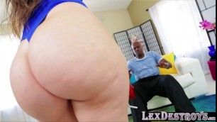 Thick babe Alexis Rodriguez gives a bbc a sloppy bj