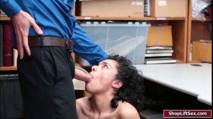 Hot shoplifter agrees to fuck LP officer