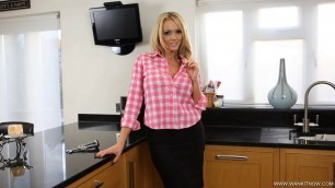 Lucy Zara Amorous Neighbour sexy woman in the kitchen