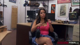 Luscious latina Nina gets nasty in the office