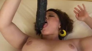 Samantha large brutal dildo in the butt BrutalDildos