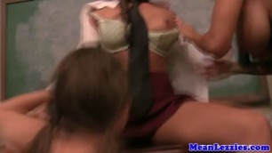 Ava Addams schooling young hot lezzies Abby Cross and Abigail Mac