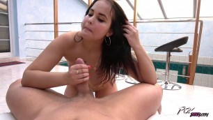 Jennifer Mendez my hard cock inside her wet pussy - Busty Teen Gets A Poolside Creampie POVBitch