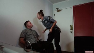 Officer Sanders - Sexy cop tortures a man on camera BrickYates