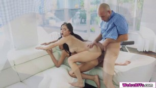 Latina bffs get fucked by one big cock