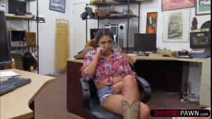 Brunette Lexi Banderas  gives a blowjob for money