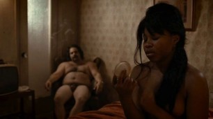Amazing Ebony Dominique Fishback nude - The Deuce s01e01 (2017)