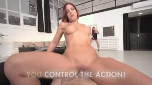 lifeselector Cat Burglars - Brunette shows off her big boobs