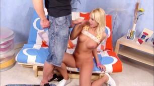 Сute Blonde Lena Covas First Gangbang scene 4 Bang