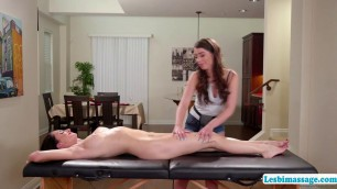 Massage turns into face sitting position with Silvia and Joseline