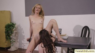 Slutty MILF Mona uses toy to bang Caseys pussy from behind