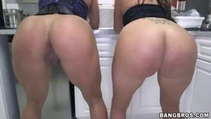 Becca Diamond and Vanessa Luna Stunning Big Booty Fiery Latina Lesbian Threeway