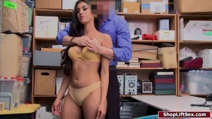 Latina banged hard for stealing candies