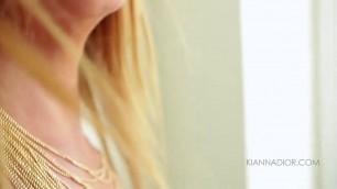Sexy busty blonde Kianna Dior Black Bikini Tit fuck