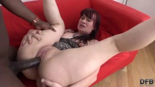 Mature Redhead Vera Delight sucking and stroking Enjoys Interracial Anal