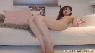 Tight Pussy Asian Babe Enjoys her Toy