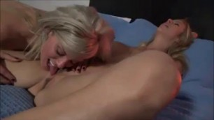 Busty blonde mom fucking son hot threesome