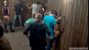 Exciting nonstop fucking in a Czech whorehouse rough gangbang