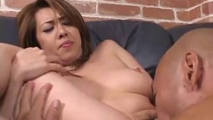 Appealing Asian mom with a hairy pussy