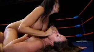 XXF LESBIAN SEX FIGHT - lesbians licking nipples