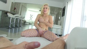 Hot blonde Ash Hollywood is fucked by Manuel Ferrera as he records it