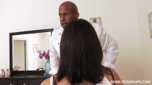 Violet Starr Sweet Pussy - Black Stepdad Punishes Masturbating Daughter