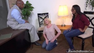 Sweeat White Basysitter Forced in a 3some With Black Couple