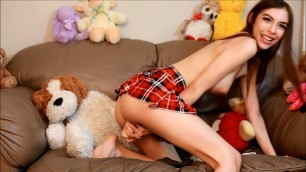 Chloe Toy - cute school girl squirts for you