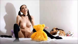 Chloe Toy hot teen porn - Solo Fetish Tasting and Orgasm