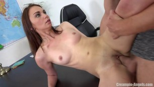 Insatiable Brunette Girl Office Creampie CreampieAngels