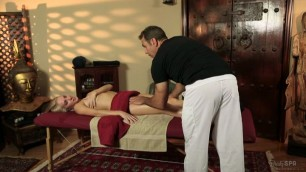 Slim Blonde Cadence Lux Fucked During A Massage