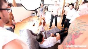 Dani Jensen DJ, Hope Howell (Dani Jensen's 15-Man Gangbang Photoshoot BTS, Project Yum Yum )
