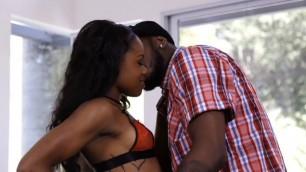 Sexual Ebony Amilian Kush wants this black guy to fuck her