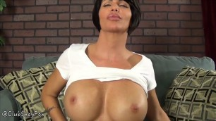 Shay Fox - Brunette shows off her chest
