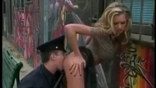 Spectacular Blonde Briana Banks gets sex by a cop