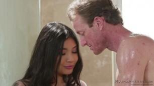 NuruMassage Night Before The Wedding Massage Tender Brunette Girl Brenna Sparks Ryan McLane