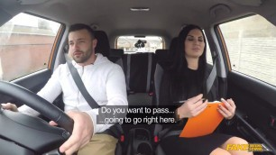 Hottest Girl Jasmine Jae Lad Distracted by Pussy on Test FakeDrivingSchool