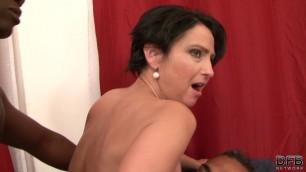 Gabriela aka Nicol & BBC busty anal dp double penetration mature interracial