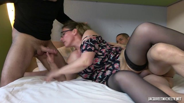 Aurelie & BBC chubby mature milf french interracial