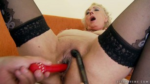 06 Sila & toyboy mature BBW granny Granny gets fucked