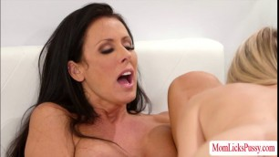 Hot MILF Reagan sucks Scarlettes wet pussy on their bed
