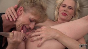 Lilla or Katherin & Violett Grannies Interracial BBC Threesome anal