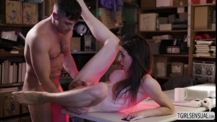 Naughty ts Korra Del Rio takes a studs dick from behind