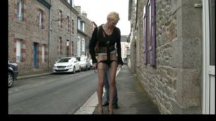 01 Marie-Helene skinny French anal mature outdoor