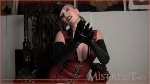 Mistress T - latex gloves make you weak