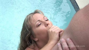 Amber Lynn Bach - Poolside Blowjob sex