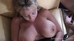 Amber Lynn Bach fucks on the couch - Threesome 2